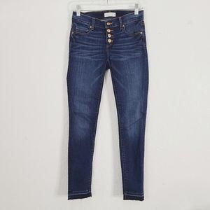 Loft 24/00 Modern Skinny Button Fly Jegging Jeans